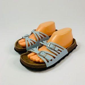 Birkenstock Betula 39 Blue Footbed Sandals